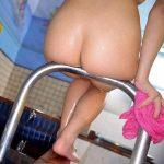 シャワーや湯船でビショ濡れたお尻は妙にエロく見えるお風呂エロ画像